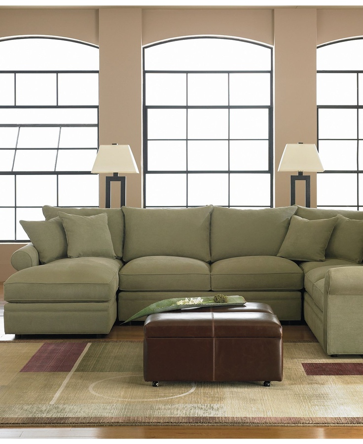 Chic Corner Sectional With Chaise Doss Fabric Microfiber Sectional Sofa 4 Piece Left Arm Facing