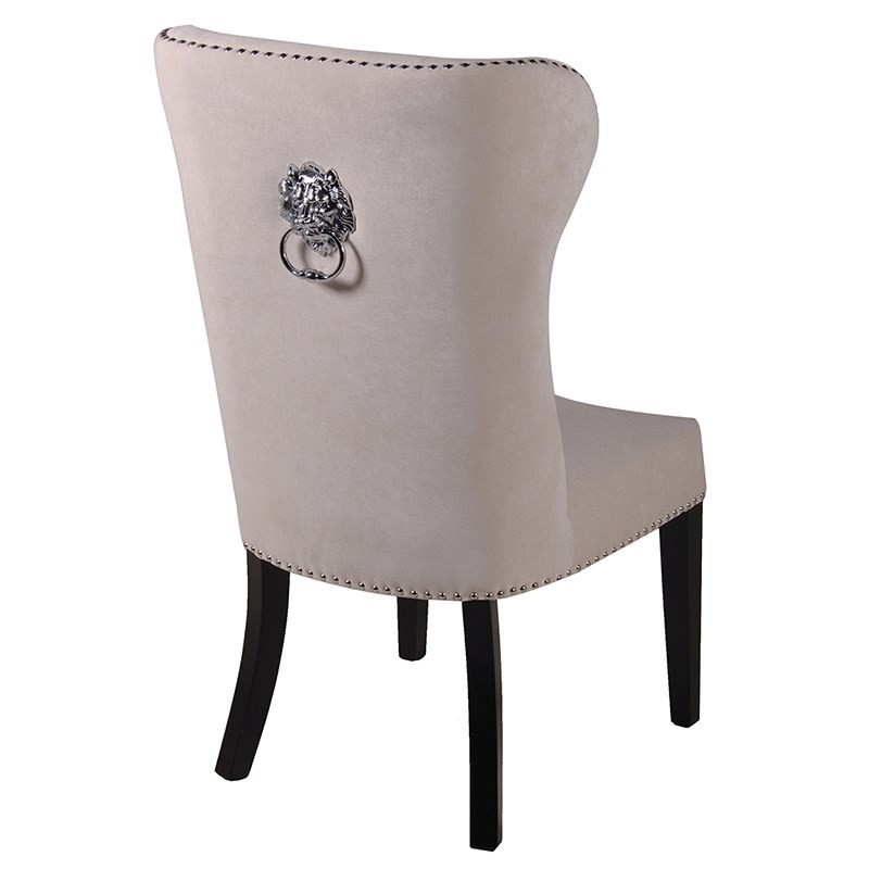 Chic Cream Dining Chairs Cream Dining Chair With Lion Knocker Dining Chairs
