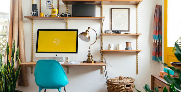 Chic Create A Desk The Idea Of Shelving To Create A Desk Storage Diy Better Homes