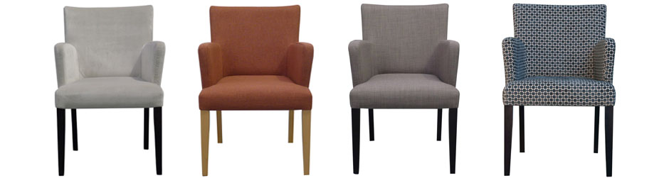 Chic Cushioned Dining Chairs With Arms Upholstered Dining Chairs Bespoke Custom Chairs The Chair People