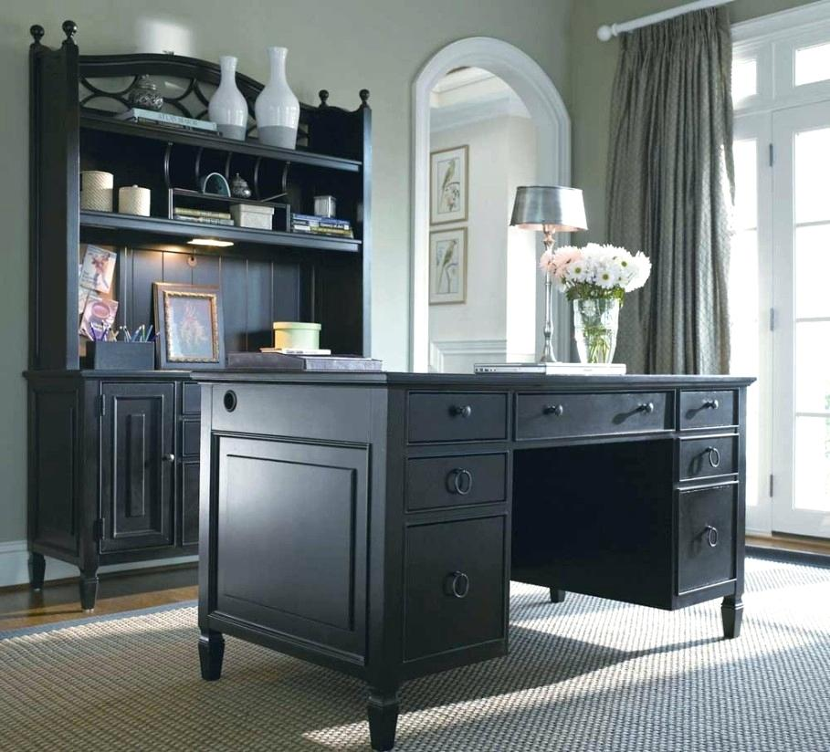 Chic Dark Wood Office Desk Black Wood Office Desk Interior Design
