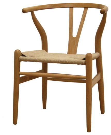 Chic Dining Chairs Natural Wood Natural Wood Wishbone Chair Midcentury Dining Chairs