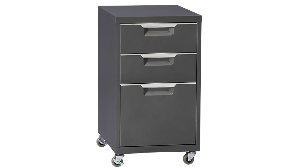 Chic File Drawers On Wheels Tps Carbon Rolling File Cabinet Cb2
