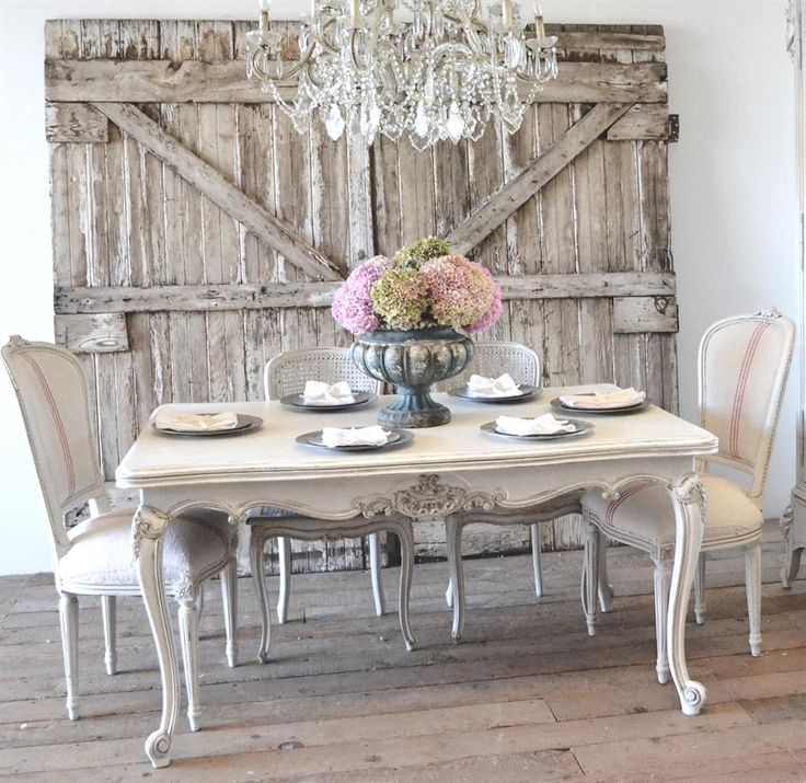 Chic French Dining Chairs Antique French Dining Table From Full Bloom Cottage French