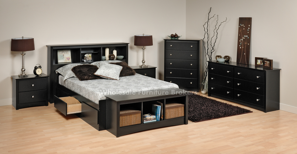 Chic Full Queen Bedroom Sets Bedroom Pretty Prepac Sonoma Black Queen Platform Storage