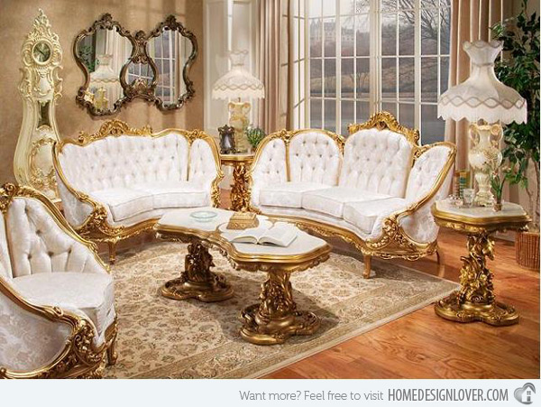 Chic Gold Living Room Chairs 15 Wondrous Victorian Styled Living Rooms Home Design Lover