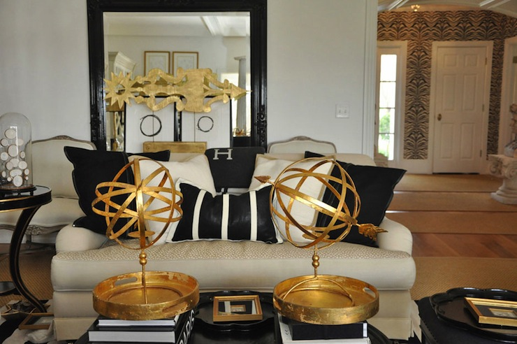 Chic Gold Living Room Chairs Gold And Black Living Room Eclectic Living Room Megan Winters