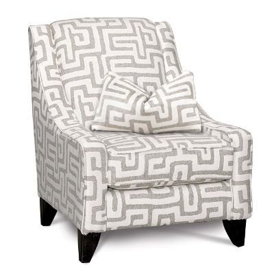 Chic Grey And White Accent Chair Evelyn Upholstered Accent Chair Tags Upholstered Accent Chair