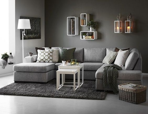 Chic Grey Couch Living Room Best 25 Dark Grey Couches Ideas On Pinterest Grey Couches