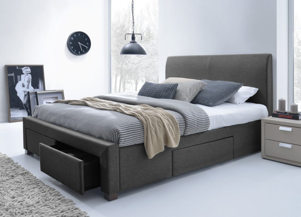 Chic Grey Full Size Bed Grey Queen Size Bed Frame With Drawers Smart Queen Size Bed