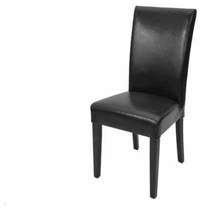 Chic High Back Leather Dining Chairs Fan Back N High Back Comfortable Parsons Leather Dining Chair