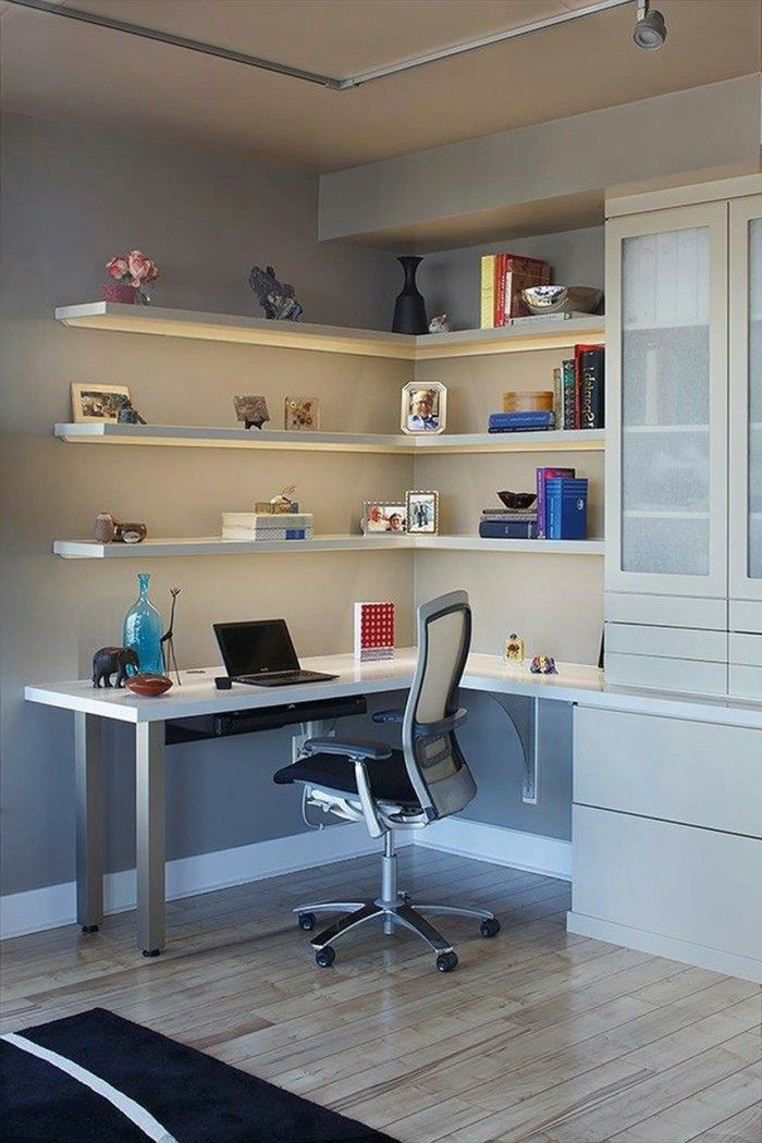 Chic Home Office Desk With Shelves Office Furniture Home Office Corner Desk Wall Shelf Office