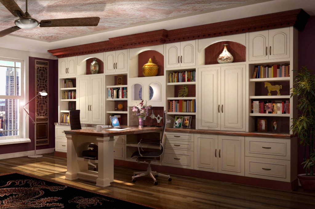 Chic Home Office Wall Unit 26 Home Office Designs Desks Shelving Closet Factory Within Home
