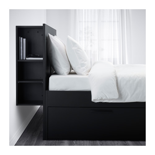 Chic Ikea Headboard And Frame Brimnes Bed Frame With Storage Headboard Queen Lury Ikea
