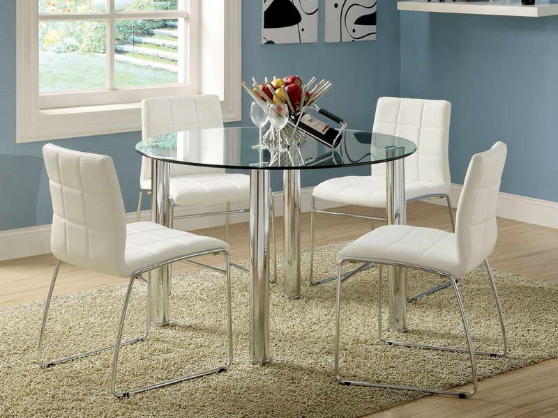 Chic Ikea Small Glass Dining Table Dining Room Small Modern Round Glass Top Dining Table Wooden Leg