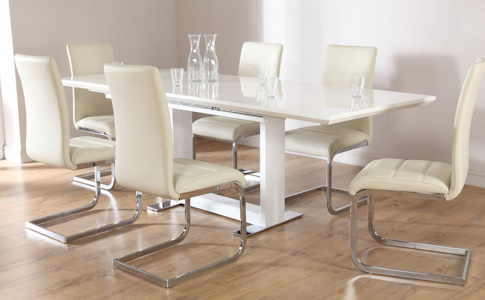 Chic Ivory Kitchen Chairs Dining Room Ivory Dining Table And Chairs On Dining Room In Ivory