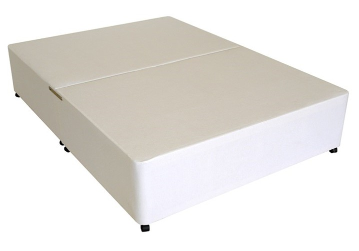 Chic King Size Bed Base Deluxe 5ft King Size Divan Bed Base Only In White Damask Fabric