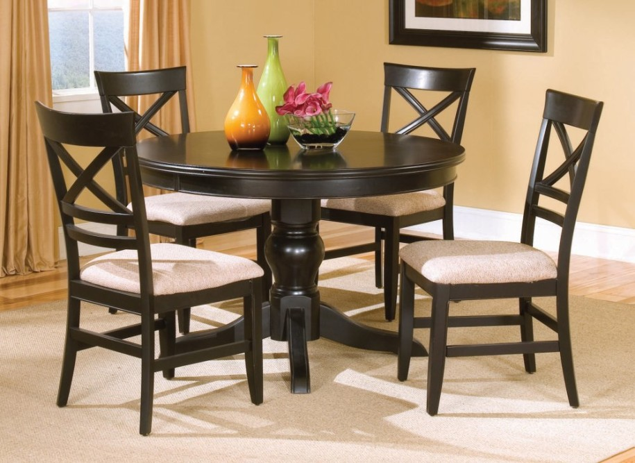Chic Kitchen Dining Sets Brilliant Black Table And Chairs Set Adorable Small Black Dining