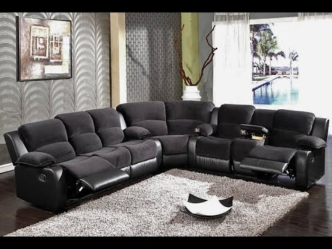 Chic L Couch With Recliner Sectional Sofas With Recliners Youtube