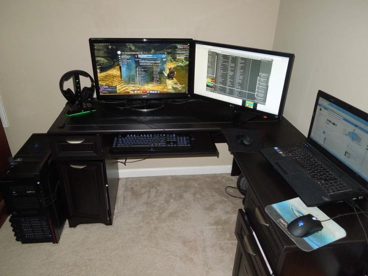 Chic L Desk Gaming Setup Great Cool Gaming Desks Ideas For Gamers 17 Images About Office