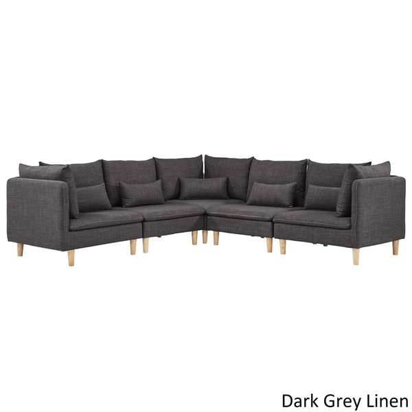 Chic L Shaped Sectional Couch Malina Modular Fabric L Shaped Sectional Sofa Inspire Q Modern
