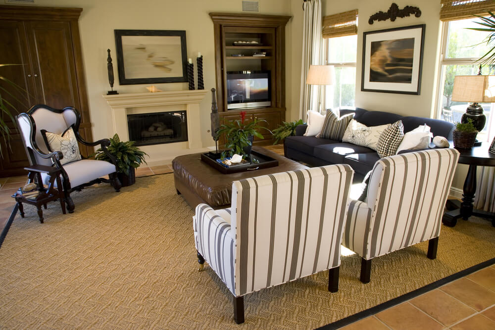 Chic Large Living Room Sets 50 Beautiful Living Rooms With Ottoman Coffee Tables