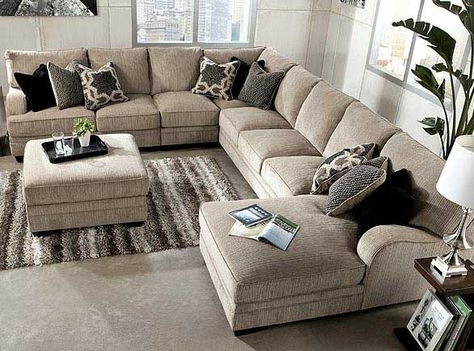 Chic Large Sectional Sofa With Ottoman Living Room Large Sectional Sofas With Chaise Sofa Ottoman Best 25