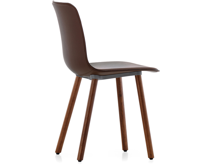 Chic Leather And Wood Dining Chairs Hal Leather Wood Chair Hivemodern