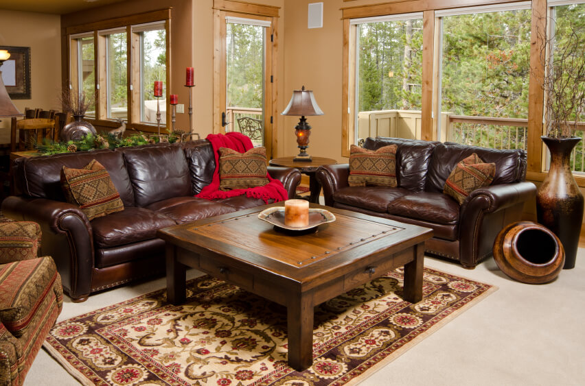 Chic Leather And Wood Living Room Sets Antique 15 Rustic Leather Living Room Furniture On Rustic Living