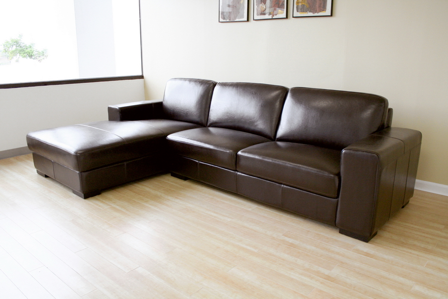 Chic Leather Sectional Sofa With Chaise Baxton Studio Susanna Brown Leather Sectional Sofa W Chaise