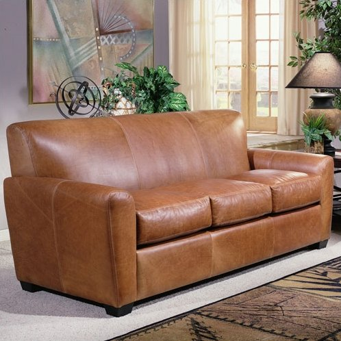 Chic Light Brown Leather Couch Leather Sofas