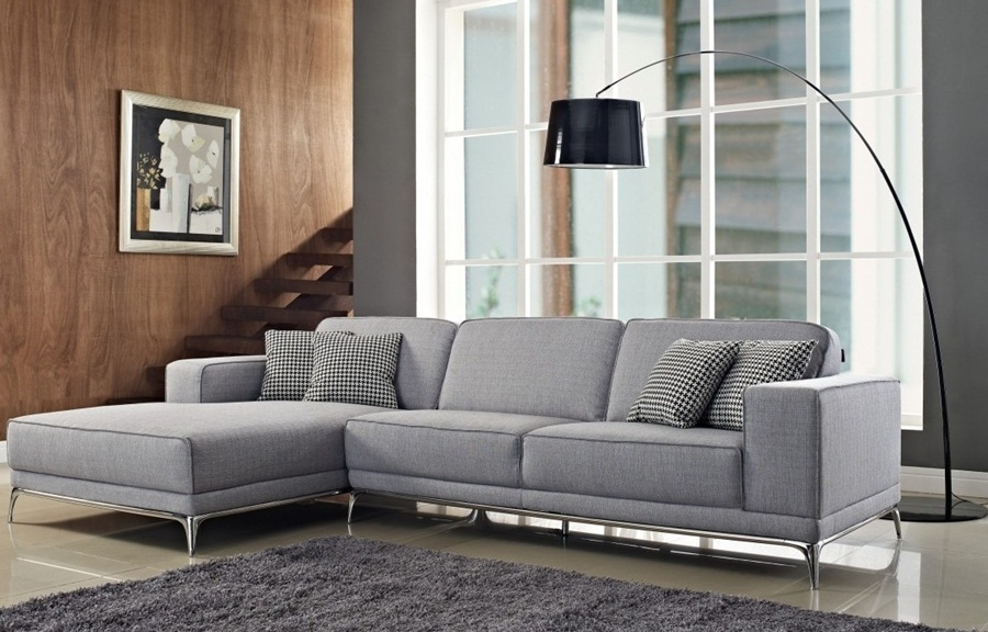 Chic Light Grey Sectional Couch Living Room Innovative Light Grey Sectional Italian Leather Gray