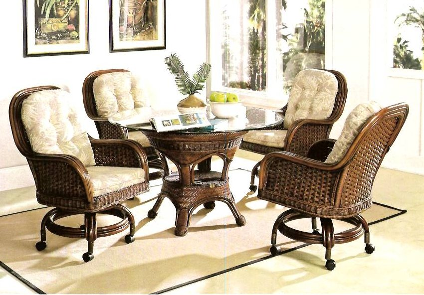 Chic Living Room Chairs On Wheels Set Of Rattan Dining Room Chairs With Wheels Plushemisphere