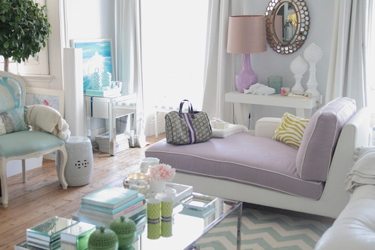 Chic Living Room Chaise Lounge Purple Chaise Lounge Contemporary Living Room Ana Antunes