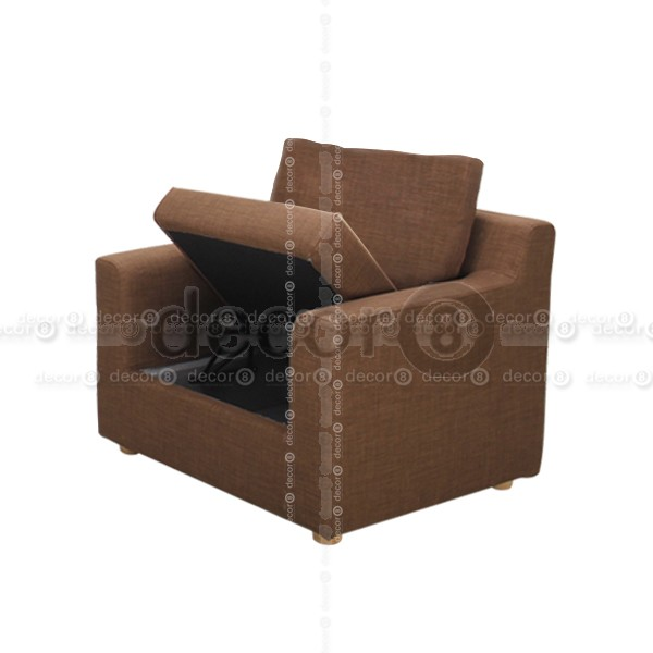 Chic Lounge Chair With Storage Decor8 Sofa Carel Fabric Single Seater Sofa And Lounge Chair