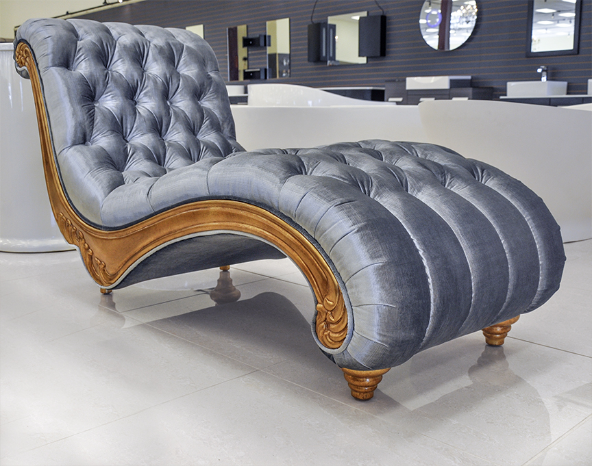 Chic Luxury Chaise Lounge Sofa Product Printer Friendly Page