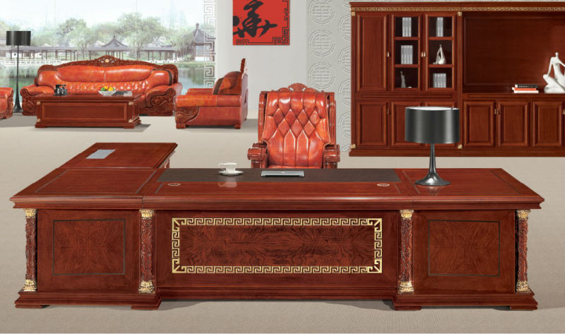 Chic Luxury Office Desk Luxury Office Furniture Executive Desk With Gold Leaf Gilding