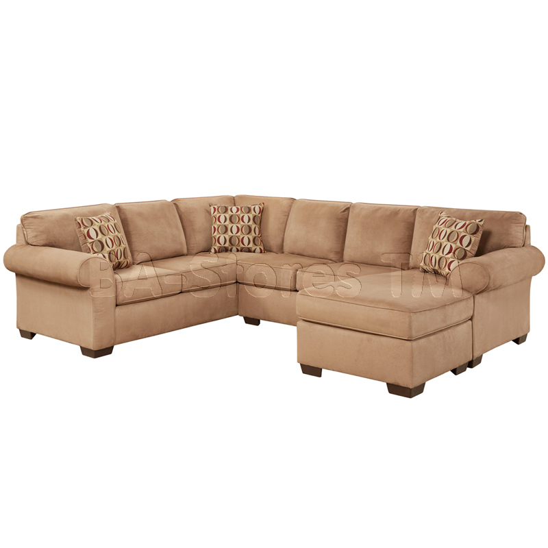 Chic Microfiber U Shaped Sectional Sale 132370 Exceptional Designs Flash Patriot Mocha