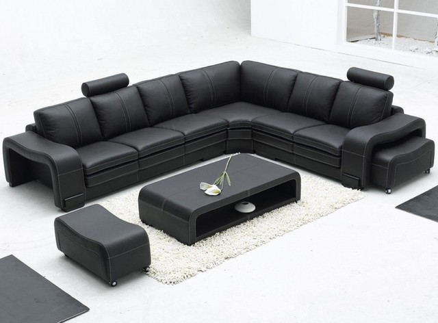 Chic Modern Black Leather Couch Great Black Leather Sofas Black Leather Sofa Modern Sofas Los