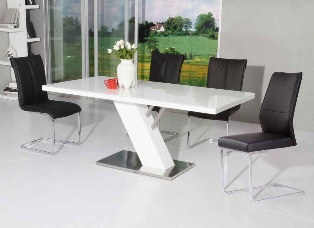 Chic Modern Rectangular Dining Table Dining Tables Terrific White Lacquer Dining Table Ideas White