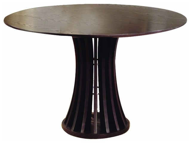 Chic Modern Round Dining Table Eurostyle Wesley Round Wood Dining Table In Walnut The Media