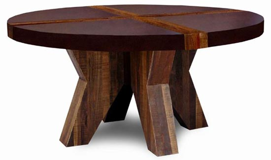 Chic Modern Round Wood Dining Table Rustic Contemporary Modern Wood Dining Table Sustainable