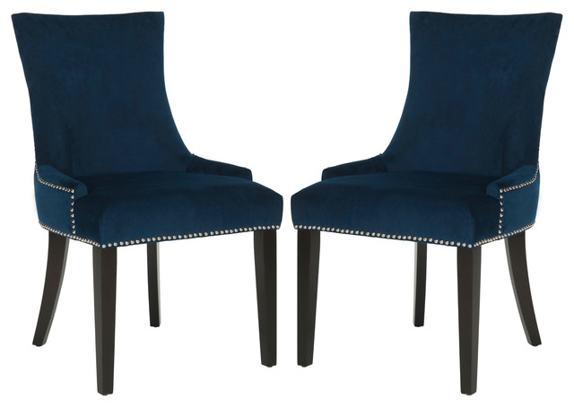 Chic Navy And White Dining Chairs Safavieh Lester Dining Chairs Set Of 2 Contemporary Dining