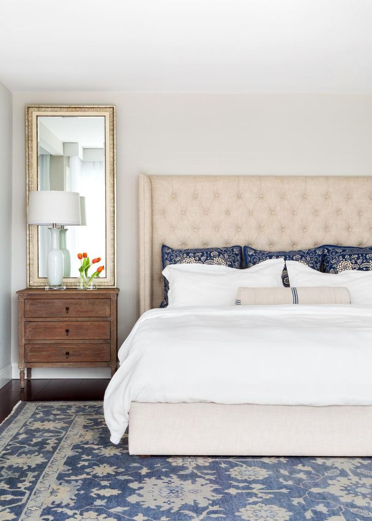 Chic Nightstands For Tall Beds Best 25 Mirror Behind Nightstand Ideas On Pinterest Small