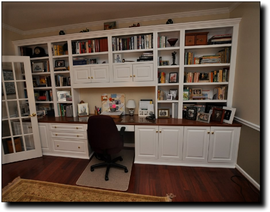 Chic Office Desk With Shelves Wall Units Extarordinary Home Office Wall Units With Desk Home