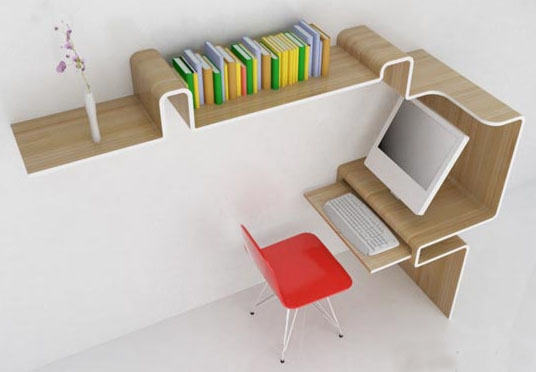 Chic Office Desk With Storage Space Saving Furniture Home Office Desk Storage Idea