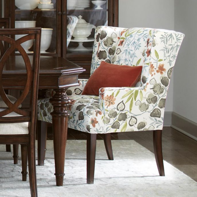 Chic Printed Dining Chairs Dining Room Large Dining Table White Dining Table Kitchen Dining