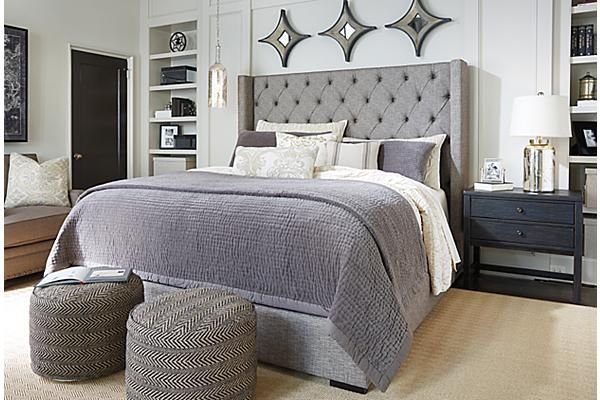 Chic Queen Size Bed Ashley Furniture Finally Picked A New Bed I Love This Because The Grey Is Easier