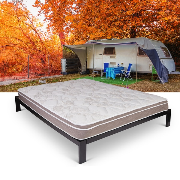 Chic Queen Size Bed In A Box Blissful Journey Rv Pillowtop Short Queen Size Innerspring