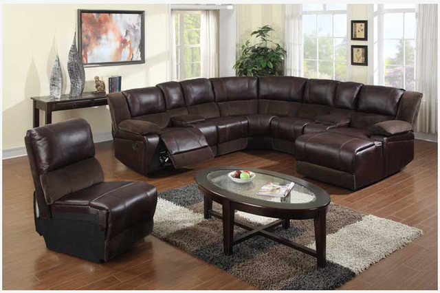 Chic Reclining Couch With Chaise Impressive Leather Sectional Sofa Chaise F Brown Microfiber